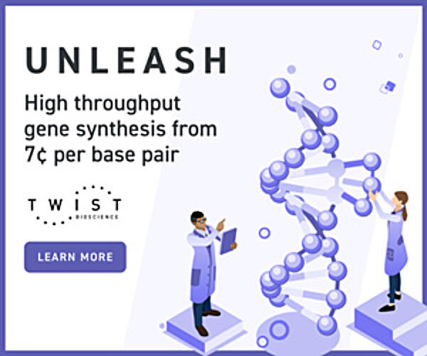 Twist Bioscience-High Throughput Gene Synthesis from 7cents per Base Pair-Learn More
